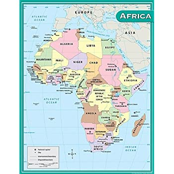 Amazoncom Africa Classic Laminated National Geographic - áfrica map