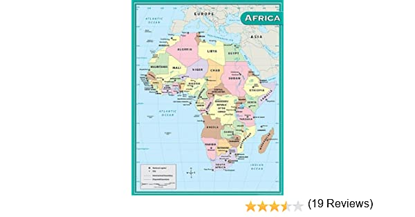 Amazon teacher created resources africa map chart multi color amazon teacher created resources africa map chart multi color 7650 themed classroom displays and decoration office products gumiabroncs Gallery