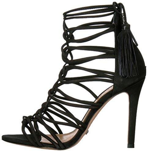 Schutz Women's Valquis Dress Sandal, Black, 7.5 M US
