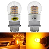 led 39 - 2-Pack 3157 3047 3057A Extremely Bright Amber / Yellow LED Light,12V-DC AMAZENAR 3014 Chipset 39 SMD 3157A Base Dimmable Replacement For Tail BackUp Bulb Brake Turn Signal Light Parking Lamps