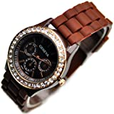 Classic Silicone Women Watch Gifts Stylish Black Fashion Lady Brand Watch for Girl L192-y