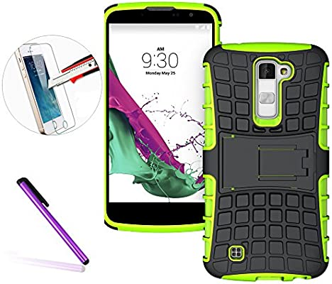 LG K10 teléfono Funda, [fútbol patrón diseño] carcasa rígida cubierta de protector de espalda Premium calidad elegante a prueba de golpes ...
