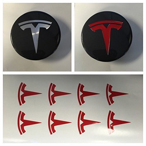 Tesla logo sticker decal vinyl Small Suitable for any car model . products made in USA Tesla Motors Sticker Tesla TESLA T Center Overlay Graphic Buy - Edwin Group of Companies. (RED)