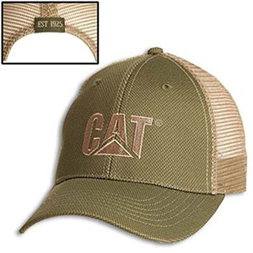 Cat Olive Green Cap W/Tan...