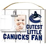 "KH Sports Fan 1001101666 10""x8"" Vancouver Canucks Clip It Weathered Baby Logo NHL Photo Frame"