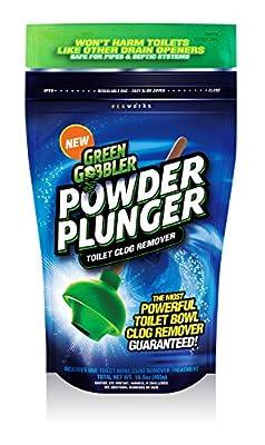 Green Gobbler POWDER PLUNGER Toilet Clog Remover