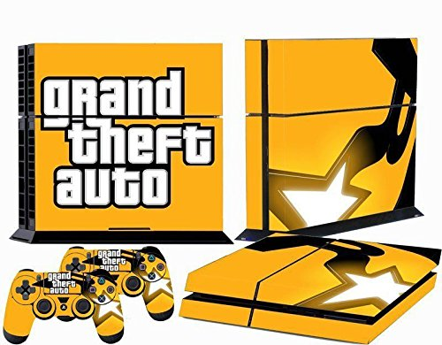 510 best stickers® Playstation 4 Console Skin & Remote Controllers Skin - GTA Shine Ps4