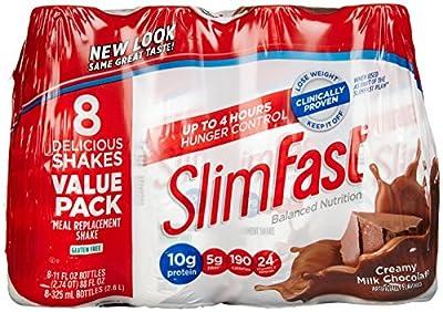 Slimfast Ready to Drink Shakes - Creamy Milk Chocolate - 10 oz - 8 pk