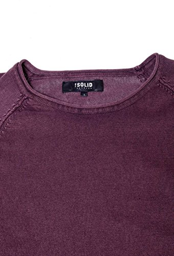Homme solid Pull Malvin Fudge Violet Knit fudge 5560 PPTvtZqw