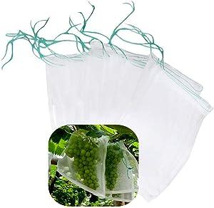 Belit Net Bags 20 Pcs Protection Tomatoes Bag with Drawstring Nylon Mesh Reusable Fruit Bags for Fruit Trees Plant Prevent (13.7