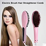 PETRICE Electric LCD Hair Straightening Brush Comb Machine