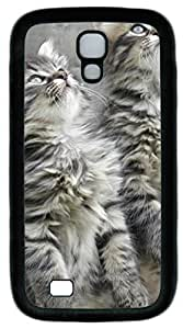 Samsung Galaxy I9500 Cases & Covers -Curious Critters3 TPU Silicone Rubber Case Cover for Samsung Galaxy S4 and Samsung Galaxy I9500 Black