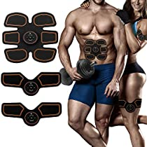 ABS Muscle Stimulator, EMS Abdominal Muscle Toner, Ultimate ABS Muscle Stimulator Belt Electronic Rechargeable Muscle Trainer, Smart Wearable Home Abs Trainer Men Women Smart Body Building AY