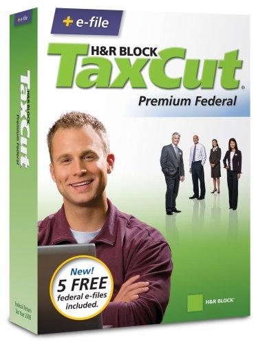 H&R Block TaxCut 2008 Premium Federal + e-file (Old Version)