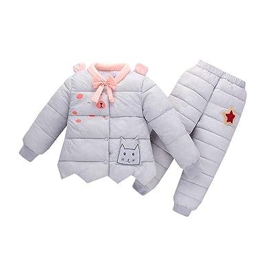 3ad6e064d Amazon.com  Kids 2 Piece Lightweight Down Jacket Coats w Ski Pant ...