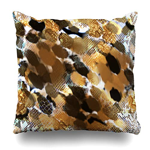 Suesoso Decorative Pillows Case 18 x 18 Inch Animal Print Leopard Snake Patternthrow Pillowcover Cushion Decorative Home Decor