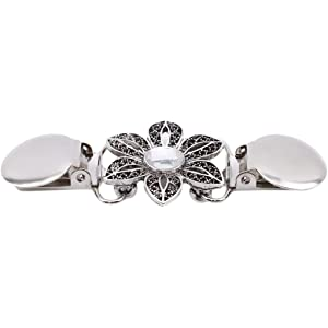 SIYWINA Shawl Clips for Women Cardigan pin Sweater Clip Jacket Clip Clothing Clip Brooches for Women