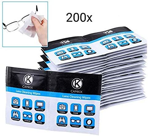 - Advanced Formula 200 Individually Wrapped Wet Tissues Moist Polish Cloths for Eyeglasses Binoculars Sunglasses Camera Lenses Lens Cleaning Wipes Phone//Tablet Screens etc