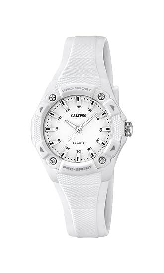 Calypso Watches Reloj Analógico para Unisex de Cuarzo con Correa en Caucho K5675_1: Calypso: Amazon.es: Relojes
