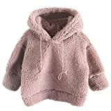 HOMEBABY Kids Baby Girl Boy Winter Warm Fleece Hoodie Hooded Fluffy Coat Cloak Sweatshirt Pullover Jumper Toddlers Thick Cardigan Casual Long Sleeve Tops Outwear