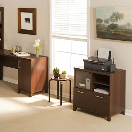 Bush Furniture Achieve Printer Stand File Cabinet in Sweet Cherry by Bush Furniture