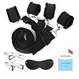EYLEER Adjustable Strap Tie Set Kit for Bed with Soft Ankle and Wrist Handcuffs for Women and Men Restraints