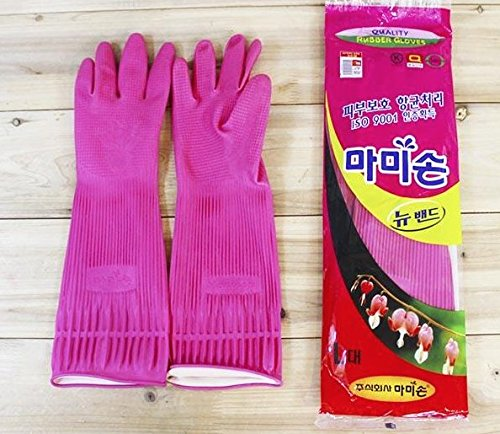 Mamison Quality Kitchen Rubber Gloves (1, L)