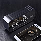 xingganglengyin Private Mode Alarm Clock Bluetooth Speaker Aluminum Wireless car subwoofer Computer Audio Radio