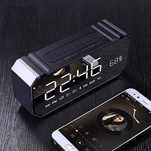xingganglengyin Private Mode Alarm Clock Bluetooth Speaker Aluminum Wireless car subwoofer Computer Audio Radio by xingganglengyin (Image #8)