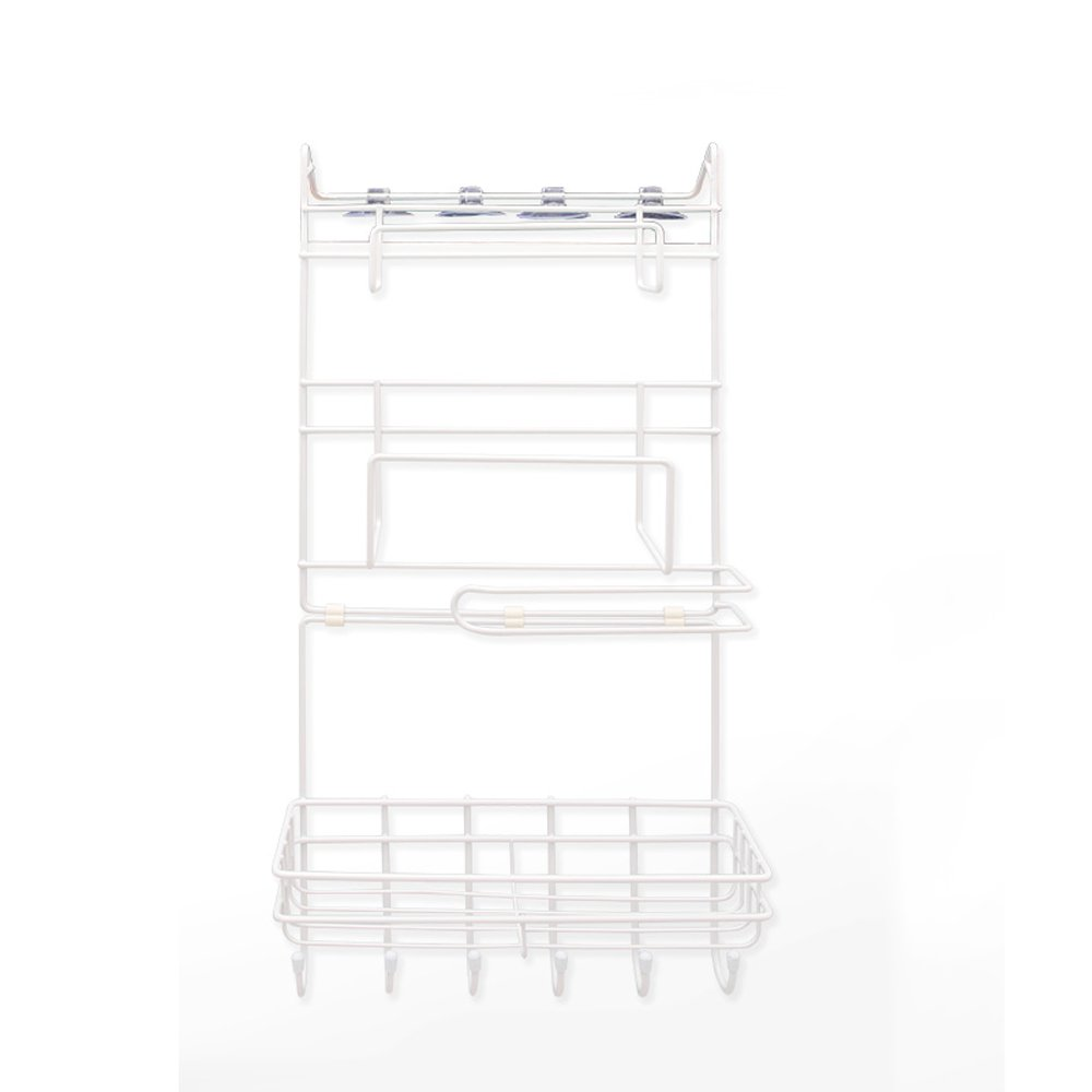 LPYMX Refrigerator rack, side wall hanging refrigerator rack kitchen rack suction cup free punching by LPYMX (Image #1)