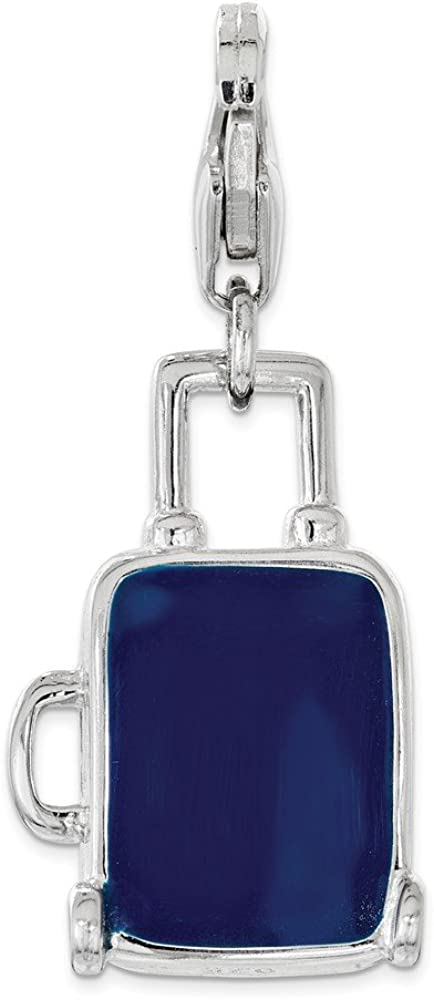 Amor La Vita Sterling Silver Click-On Enameled 3D Gold Plated Lamp with Lobster Clasp Charm Pendant