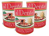 al Dente!, Stanislaus Ultra Premium Pasta Sauce, Size #10 (6 lb, 9 oz), 105 oz (Pack of 3)