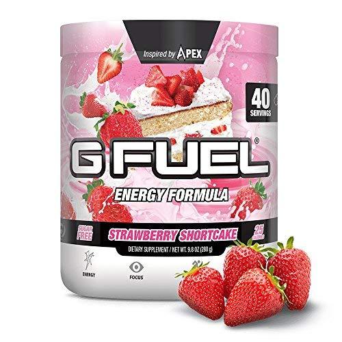 - G Fuel Strawberry Shortcake Tub (40 Servings) Elite Energy and Endurance Formula