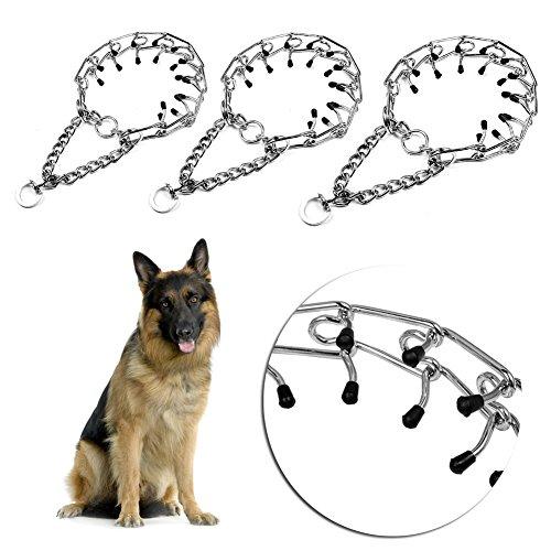 Adjustable Metal Steel Dog Pinch Prong Choke Chain Collar Training Guardian Gear