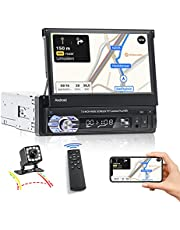 Android Car Stereo Bluetooth , Single Din Car Stereo Touch Screen Car Radio with FM WiFi Navigation, Mirror Link Backup Camera