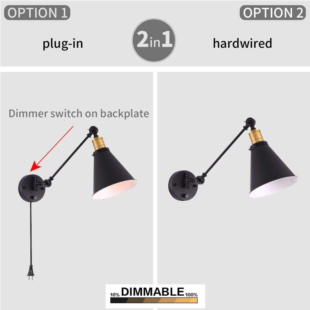 Industriel rétro style vintage réglable Mur Lumières Appliques Lampe Kit de montage UK