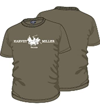 HARVEY MILLER POLO CLUB Camiseta de algodón Camiseta Casual para ...