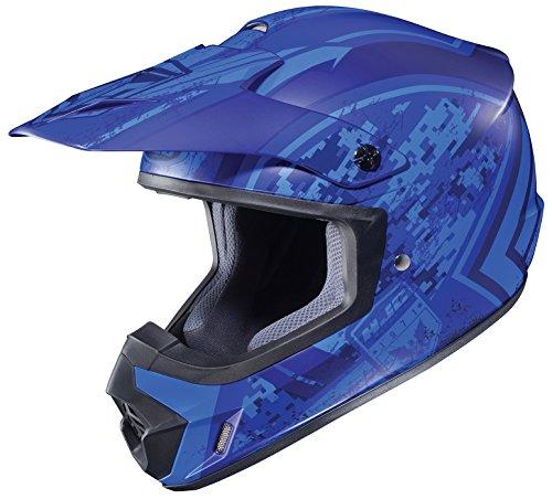 HJC Helmets CS-MXII Squad Unisex-Adult Snowcross/Off-Road Motorcycle Helmet (Blue, XX-Large)
