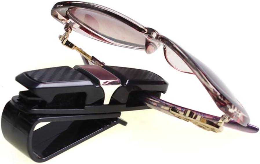 180 Drehbarer Brillenhalter mit Ticketkartenclip Grau Tragbar und n/ützlich Vektenxi Brillenclip Brillenhalter f/ür Auto Sonnenblende Doppel-End-Clip