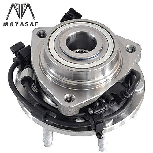 MAYASAF 513188 Front Wheel Hub and Bearing Assembly 6 Lug w/ABS Fit 02-09 GMC Envoy/Chevy Trailblazer/03-06 SSR, 02-04 Olds Bravada, 03-08 Isuzu Ascender Saab 9-7X, 04-07 Buick Rainier RWD