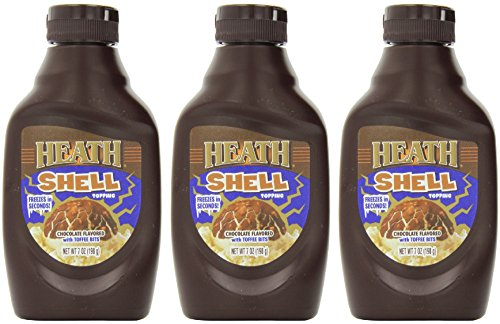 Chocolate Dessert Shells - Heath Shell Topping, 7-Ounce Bottle (Pack of 3)