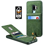 Samsung Galaxy S9 Plus Wallet Case for Galaxy S9 Plus Credit Card Case Spaysi Galaxy S9 Plus Leather Wallet Case Magnetic Closure Kickstand Gift Box for S9Plus (Green)