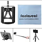 Fantaseal® Super Wide Clamp Tripod Mount for Smartphone Holder Mount Tripod Mount Universal Phone Adapter Mobile Phone Clip Clamp Stand Selfie Stick Monopod Tripod Mount Adapter w/ Kickstand for iPhone 7+/ 7/ 6S+/ 6S/ 6+/ 6/ 5/ 5C/ 4S/ 4 + Samsung Galaxy S8/ S8+ / S7/ S7 Edge/ J7/ S6 Edge/ S5/ Note 5/ Note 4/ Note 3 + Huawei P10/ P10 plus/ P9/ P9 lite/ P9 plus/ Mate 9/ Mate 8 Xiaomi Nexus LG HTC ZTE Sony Blackberry Nokia etc Cellphone Cradle Support Stand