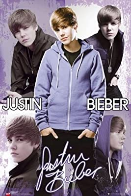 "Justin Bieber - Personality / Music Poster (5 Image Collage) (Size: 24"" x 36"")"