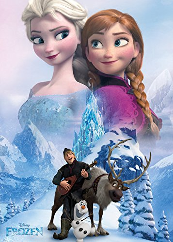 Frozen - Giant Disney XXL Movie Poster / Print (The Cast - Anna, Elsa, Kristoff, Sven & Olaf The Snowman) (Size: 39