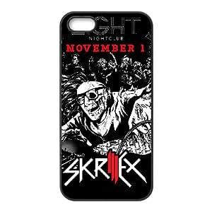 Skrillex funda iPhone 4 4s funda O2P45U3RA caso de la cubierta negro R6QSAE