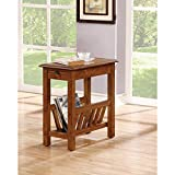 Cheap PH 1 Piece 23 Inch Brown Accent Table, Craftsman Style Indoor Side Table Mission Style Rectangular Shaped End Table Includes Hardware Storage Cappuccino Finish Country Style, MDF Veneer