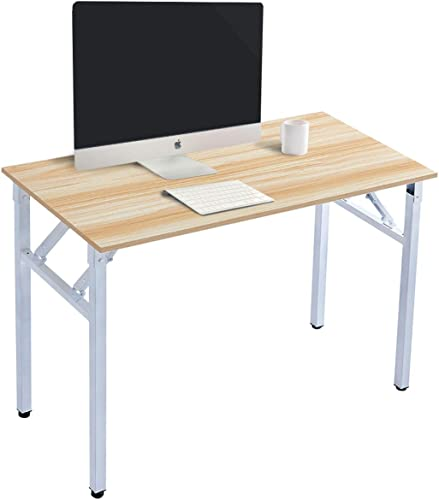 Zoyo Computer Desk 39.4 inch Home Office Writing Small Desk Folding Desk