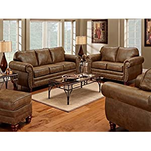 American Furniture Classics 4-Piece Sedona Set with Sofa/Loveseat/Chair/Ottoman