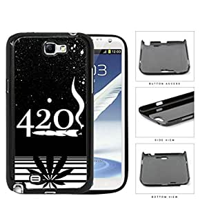 420 Weed Spray Painted Black and White Design Art Hard Snap on Phone Case Cover Samsung Galaxy Note 2 N7100 wangjiang maoyi